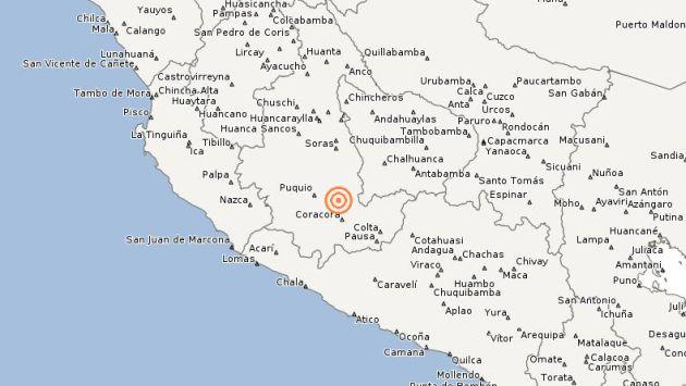 Temblor se registró esta noche. (IGP)