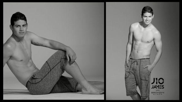 James Rodríguez se destapó para modelar ropa interior