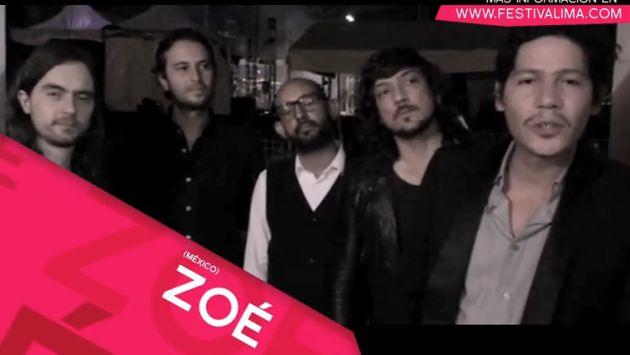 Zoé mandó saludos a sus seguidores peruanos