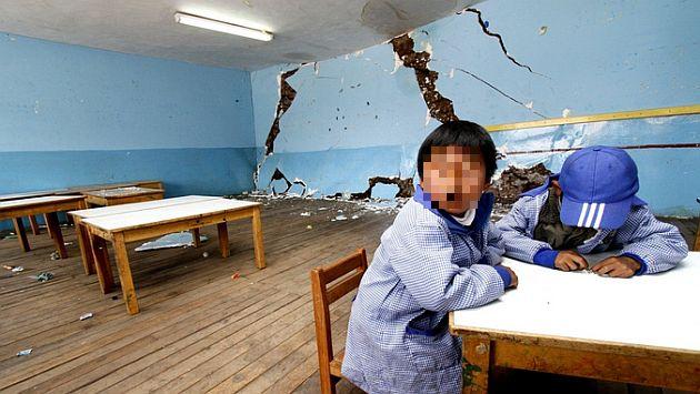 Más de 11,000 alumnos resultaron afectados por fuerte sismo en Ayacucho. (Andina)