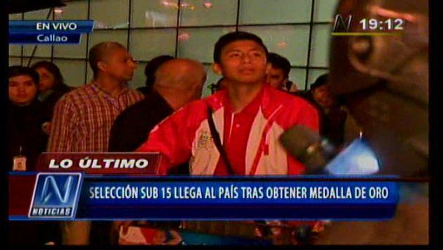 Selección Sub 15 llegó a Lima en medio de aplausos