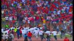 Aurich dio la vuelta olímpica tras su triunfo en Chiclayo. (CMD)