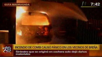 Bomberos, Incendio, Video, Breña, Combi, Explosión