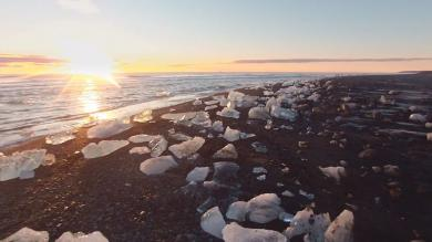 Video, Medio Ambiente, Islandia, Drone