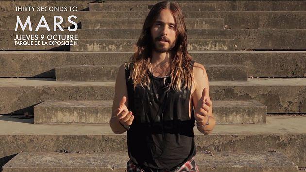 Jared Leto envió saludos a todos sus fans en Latinoamérica [Video]