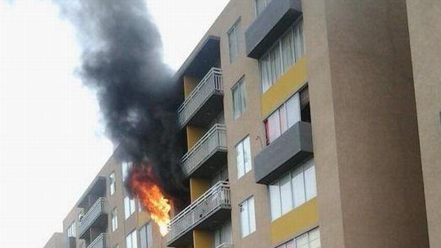 Chorrillos incendio afect departamento del condominio la for Condominio las rosas de gabriela