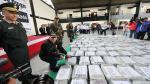Urresti presentó 7.6 toneladas de cocaína incautadas en Trujillo [Fotos]