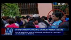 Sujeto se aprovechó de fieles en día de Santa Rosa de Lima