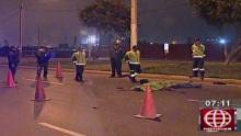 Accidentes de tránsito, Callao, Avenida Néstor Gambeta, Motocicleta lineal