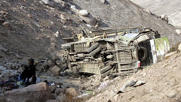 Al menos 6 muertos por caída de ómnibus que transportaba escolares en Huaral. (USI/Referencial)