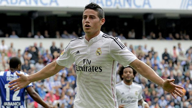 Real Madrid: James Rodríguez anotó un golazo ante Deportivo La Coruña