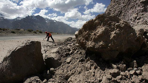 Deslizamientos afectan al sector Ranraccasa. (USI/Referencial)