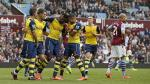 Premier League: Arsenal goleó 3-0 al Aston Villa