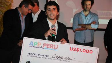 Aplicaciones móviles, Hackaton, App Perú 2014, La Tómbola