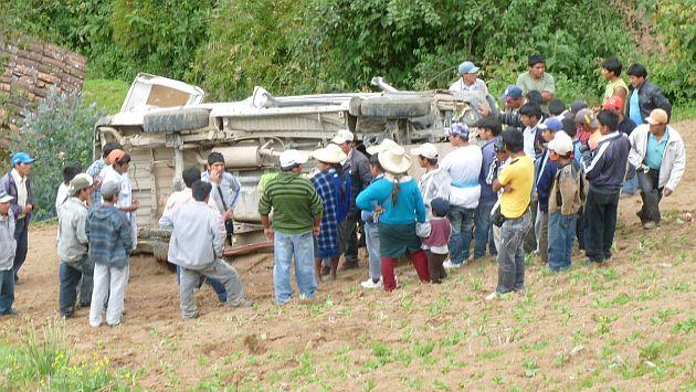 Accidente se registró este viernes en la vía Chumbi-Ayacucho. (USI/Referencial)