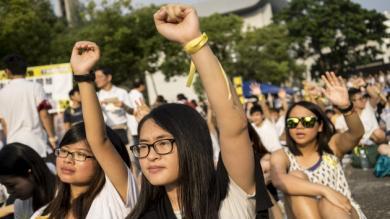 China, Democracia, Hong Kong, Huelga de estudiantes