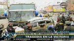 La Victoria: Taxista murió tras ser impactado por dos buses interprovinciales - Noticias de fallecio