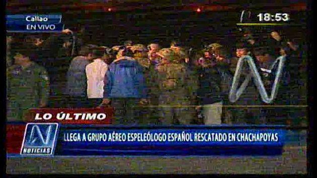 Espeleólogo español rescatado en Amazonas ya se encuentra en Lima. (Canal N)