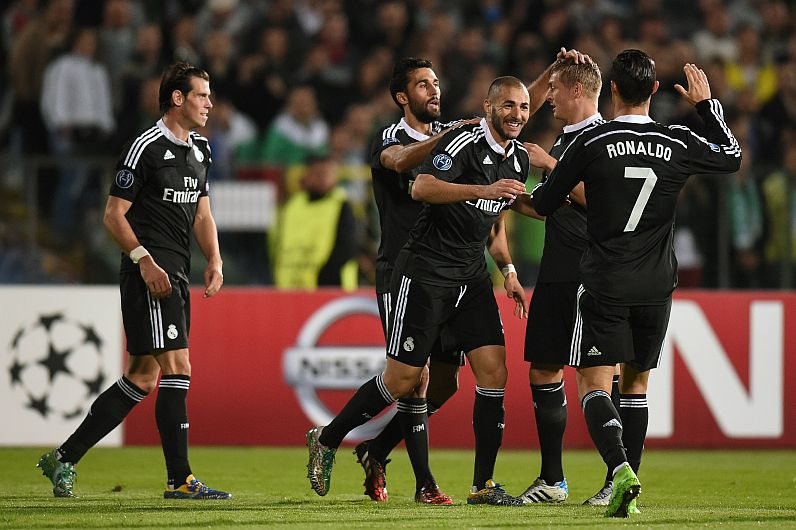 Champions League: Real Madrid derrotó 2-1 al Ludogorets
