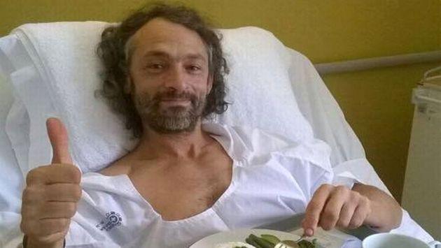 Cecilio López-Tercero se recupera en clínica limeña. (Facebook de Rescate en Perú)