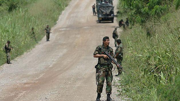 Narcoterroristas emboscaron a patrulla con material electoral. La Policía realiza un operativo en la zona. (USI/Referencial)