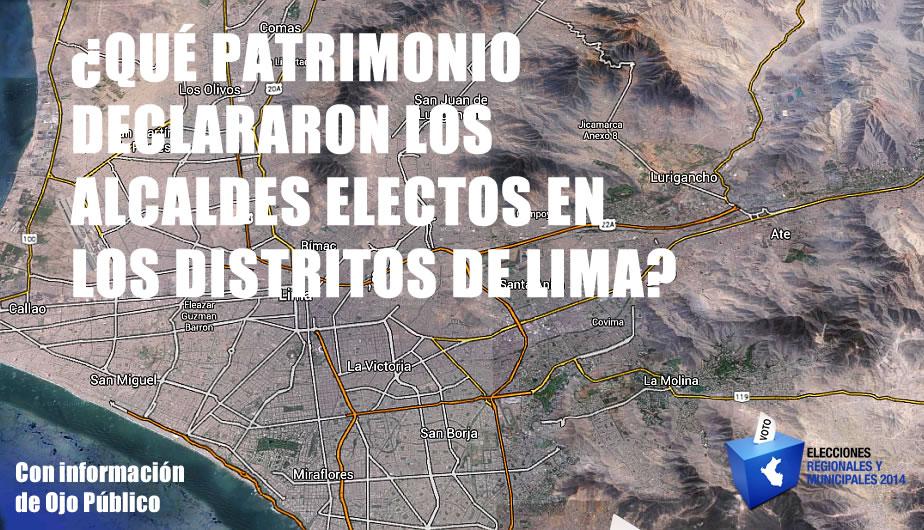 Elecciones 2014: ¿Qué patrimonio declararon los alcaldes elegidos en Lima?. (Perú21)