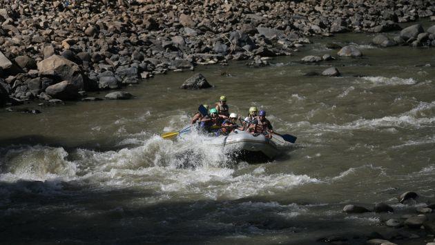 Turistas practicaban canotaje en río Apurímac. (Luis Gonzales/Referencial)