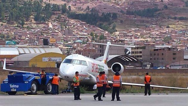 Nave de Amaszonas tuvo accidente en aeropuerto del Cusco. (@samyschwartz)