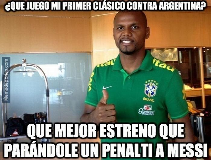 El Superclásico de las Américas dejó un 2-0 a favor de Brasil. (Memedeportes)