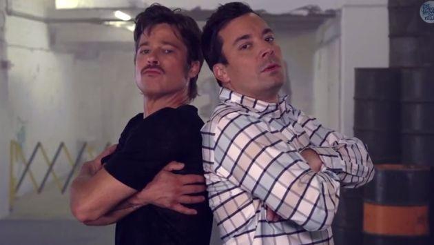 Brad Pitt y Jimmy Fallon en un duelo de breakdance [Video]