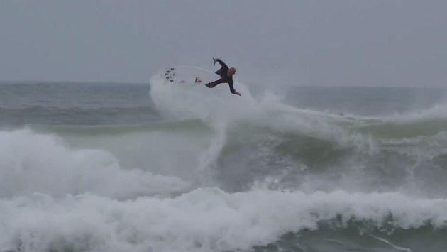 Kelly Slater realizó espectacular giro de 720 grados en Portugal [Video]
