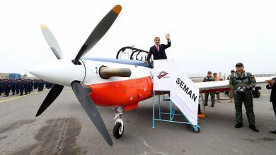 Ollanta Humala presentó aviones de instrucción KT-1P para lucha antidrogas