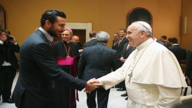 Claudio Pizarro, Papa Francisco