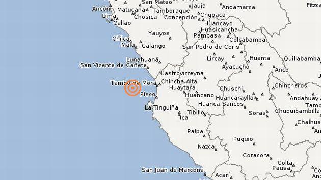 Temblor ocurrió esta tarde. (IGP)