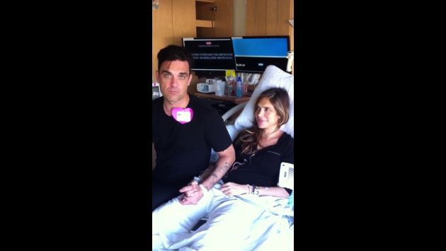 Robbie Williams registró en video la labor de parto de su esposa