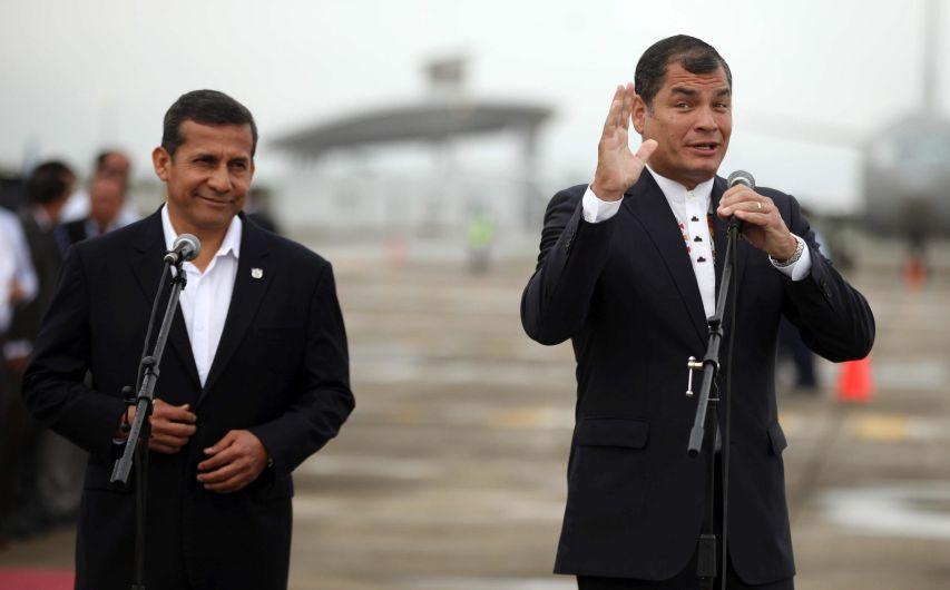 Correa y Humala seguirán trabajando por la paz