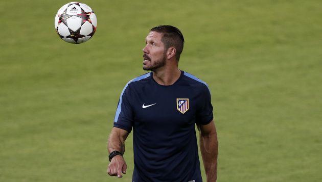 Simeone dirige al Atleti de España. (Reuters)