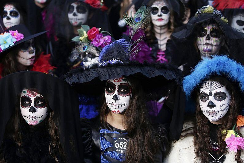 México Catrinas rompieron récord Guinness en el Día de los Muertos