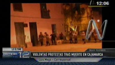 Cajamarca, Protestas en Cajamarca, Policía Nacional