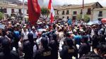 Cajamarca: Manifestantes queman motos de la PNP durante protesta [Videos] - Noticias de daniel vasquez paz