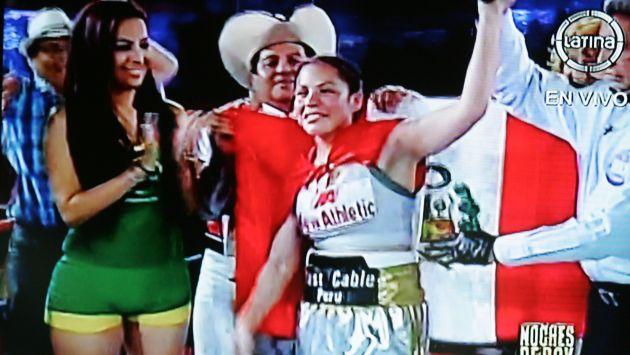 Peruana Linda Lecca retuvo por segunda vez su título interino 115 lbs AMB