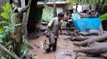 Pasco: Desagüe colapsa por fuerte granizada y calles se inundan