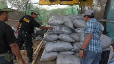 Policía Nacional, Lambayeque, Carbón ilegal
