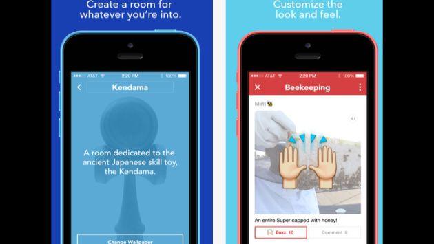 La app permite crear grupos abiertos o cerrados. (Rooms)