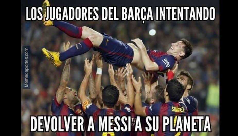 Memes por el triunfo del Barcelona y el récord de Messi