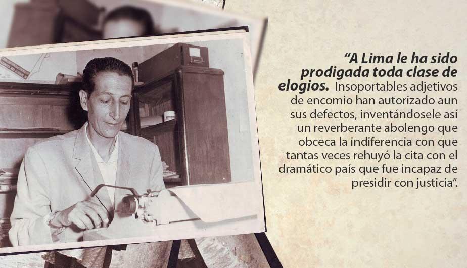 El polémico ensayo 'Lima la horrible' de Sebastián Salazar Bondy sigue vigente a 50 años de su publicación. (Perú21)