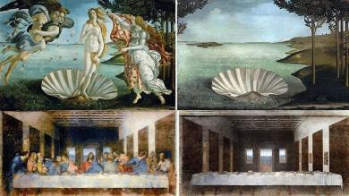 ¿Cómo se verían las grandes obras del arte sin sus personajes?