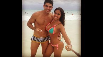 Melissa Paredes y Juan Antonio Peña viven una 'luna de miel' en México
