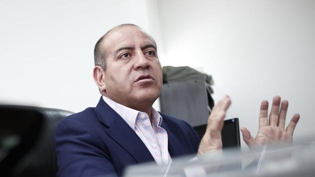 Juan Carlos Rivera Ydrogo, gerente de Antalsis Perú, está extrañado de que lo nieguen en el Congreso. (César Fajardo)