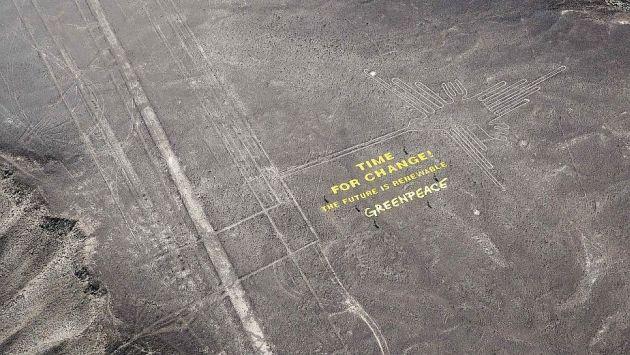 Aún no se conoce la identidad de activistas de Greenpeace que dañaron las Líneas de Nasca. (EFE)